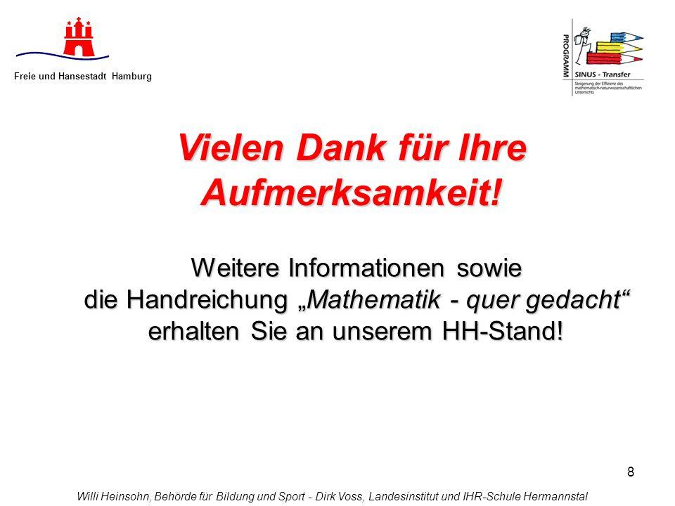 Freie und Hansestadt Hamburg Vielen Dank für Ihre Aufmerksamkeit!