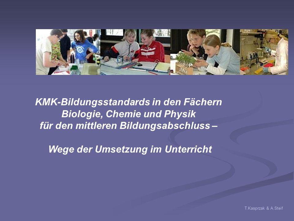 KMK-Bildungsstandards in den Fächern Biologie, Chemie und Physik