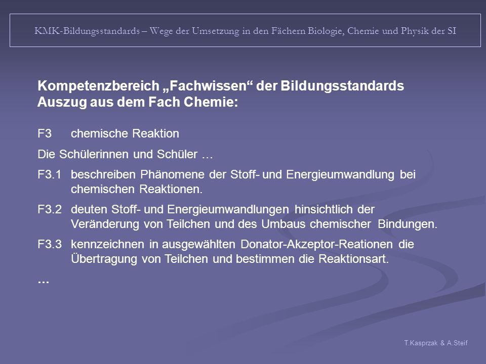 """Kompetenzbereich """"Fachwissen der Bildungsstandards"""