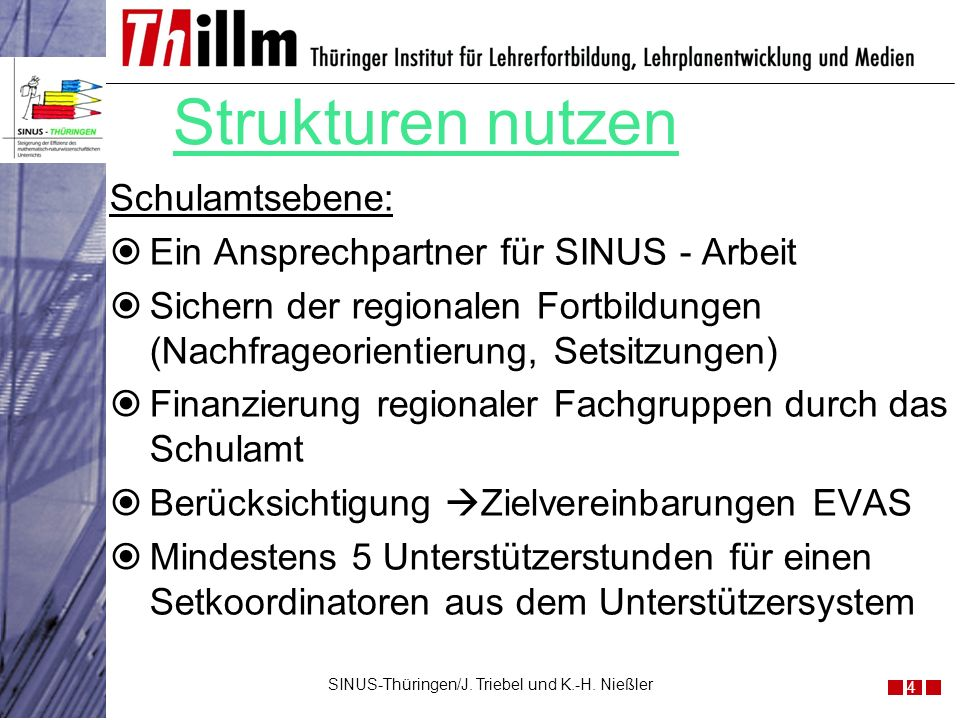 SINUS-Thüringen/J. Triebel und K.-H. Nießler