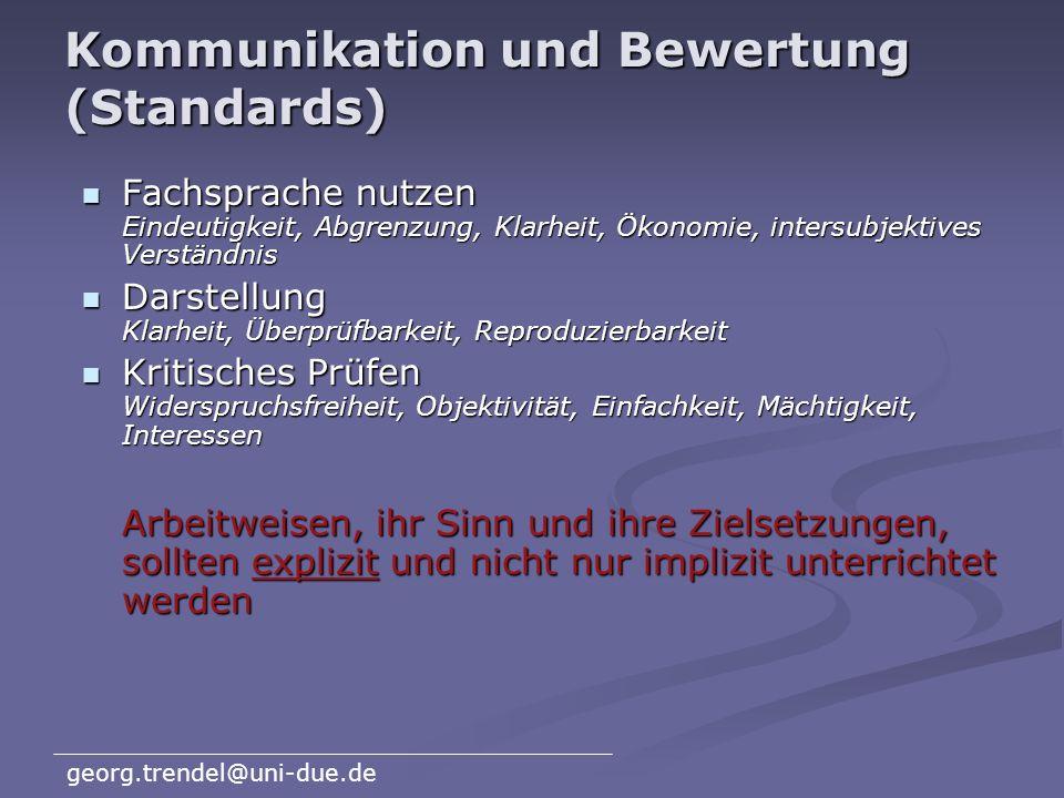 Kommunikation und Bewertung (Standards)