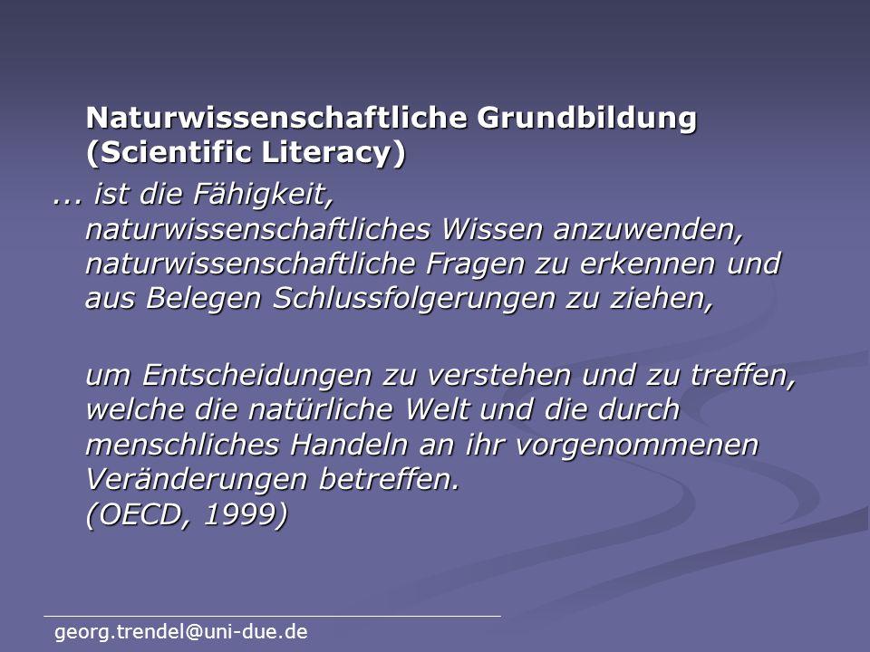 Naturwissenschaftliche Grundbildung (Scientific Literacy)