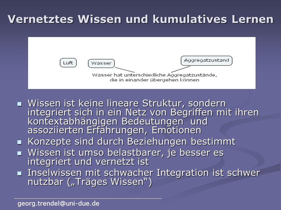 Vernetztes Wissen und kumulatives Lernen
