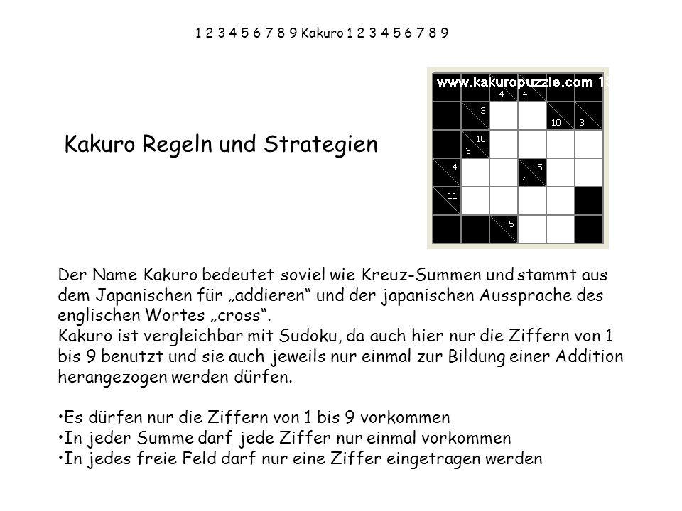 Kakuro Regeln und Strategien