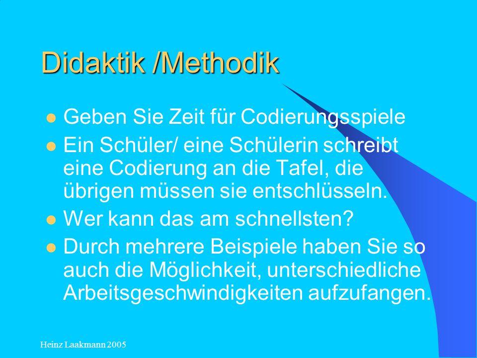 Didaktik /Methodik Geben Sie Zeit für Codierungsspiele