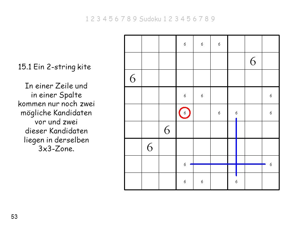 1 2 3 4 5 6 7 8 9 Sudoku 1 2 3 4 5 6 7 8 9 15.1 Ein 2-string kite.