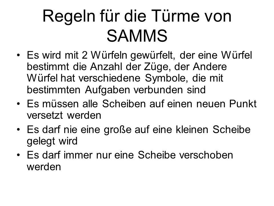 Regeln für die Türme von SAMMS