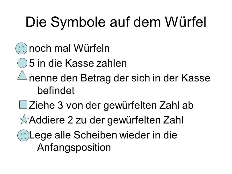 Die Symbole auf dem Würfel