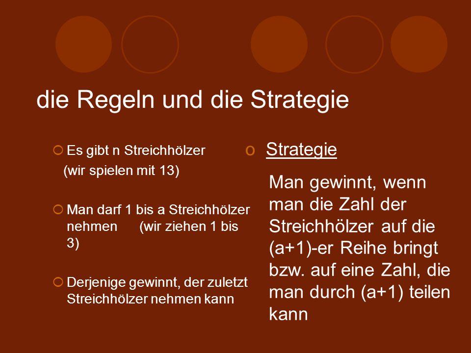 die Regeln und die Strategie