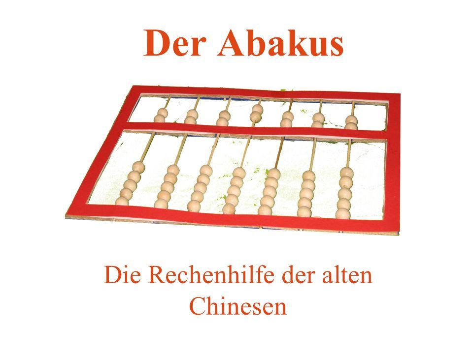 Die Rechenhilfe der alten Chinesen