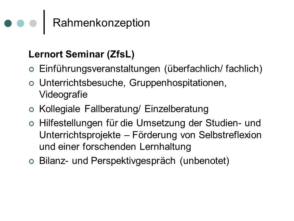 Rahmenkonzeption Lernort Seminar (ZfsL)
