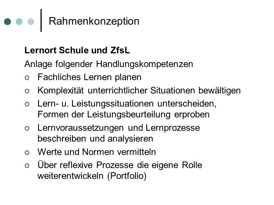 Rahmenkonzeption Lernort Schule und ZfsL