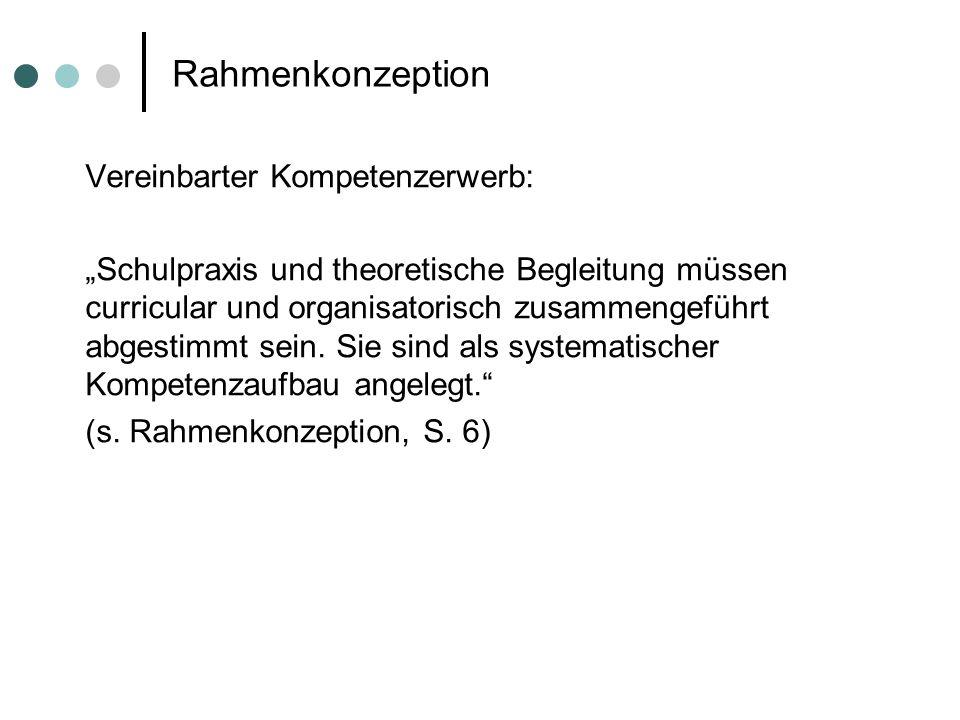 Rahmenkonzeption Vereinbarter Kompetenzerwerb: