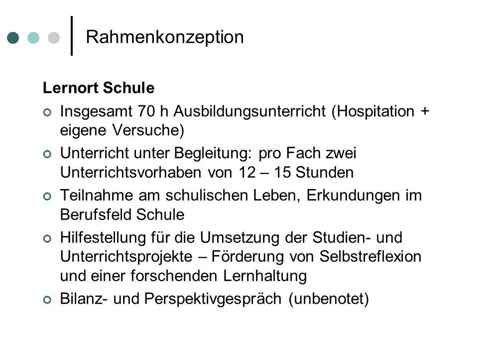 Rahmenkonzeption Lernort Schule