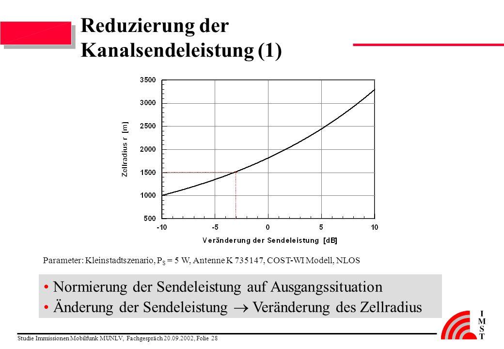 Reduzierung der Kanalsendeleistung (1)