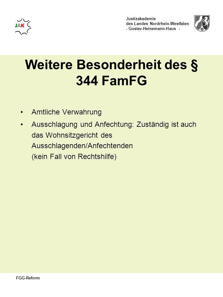 Weitere Besonderheit des § 344 FamFG
