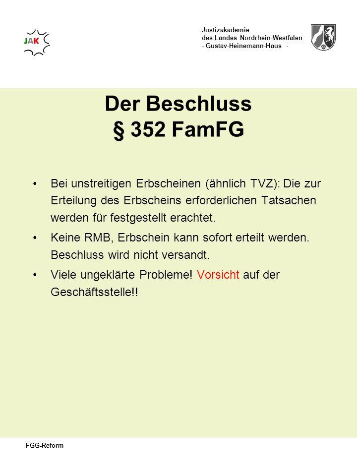 Der Beschluss § 352 FamFG