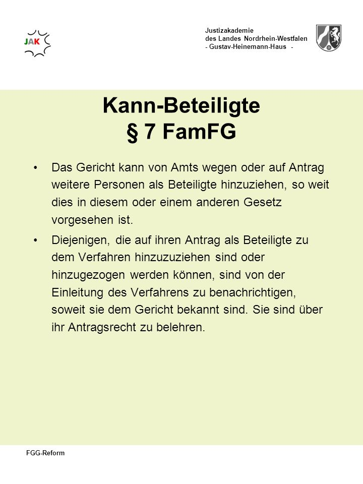 Kann-Beteiligte § 7 FamFG