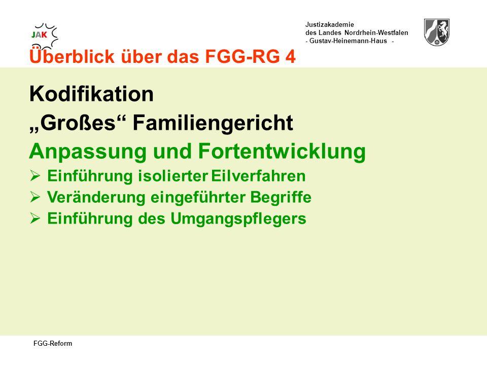 """""""Großes Familiengericht Anpassung und Fortentwicklung"""