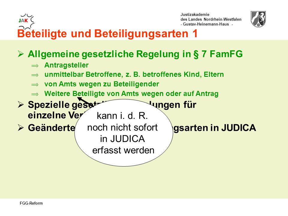 kann i. d. R. noch nicht sofort in JUDICA erfasst werden