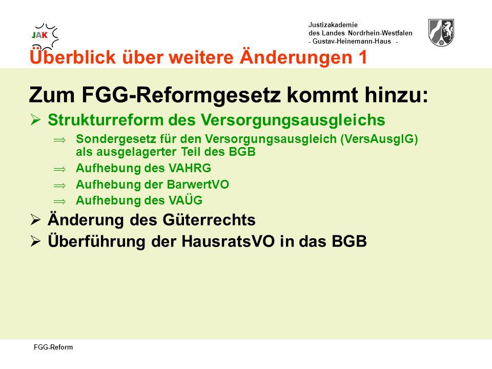 Zum FGG-Reformgesetz kommt hinzu:
