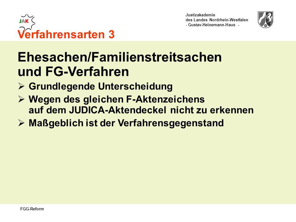 Ehesachen/Familienstreitsachen und FG-Verfahren
