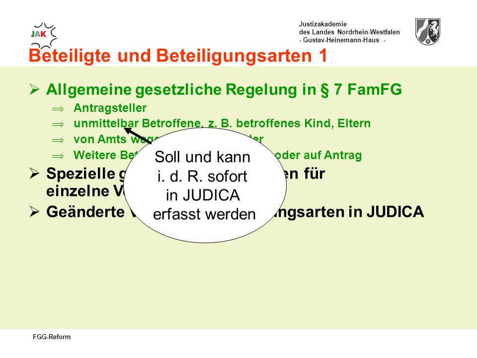 Soll und kann i. d. R. sofort in JUDICA erfasst werden