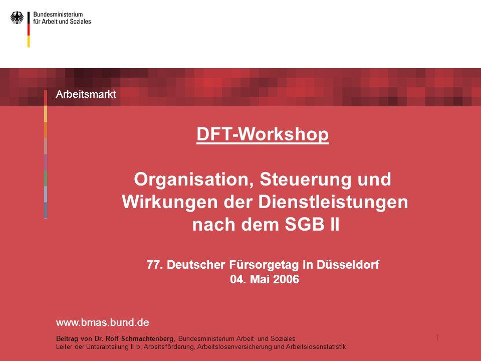 Organisation, Steuerung und Wirkungen der Dienstleistungen
