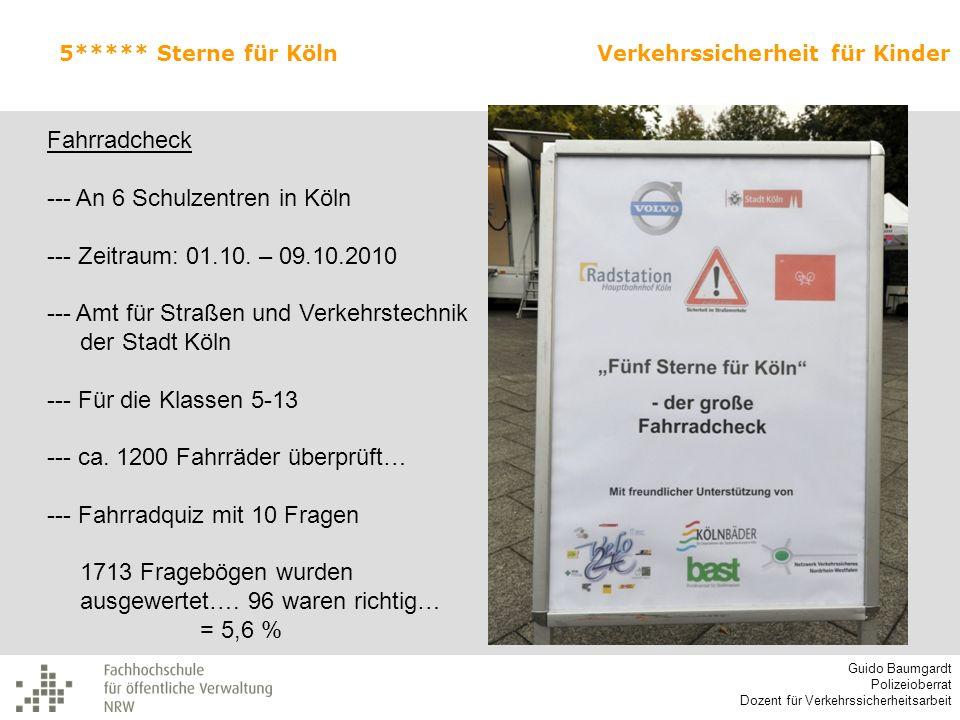 --- An 6 Schulzentren in Köln --- Zeitraum: 01.10. – 09.10.2010