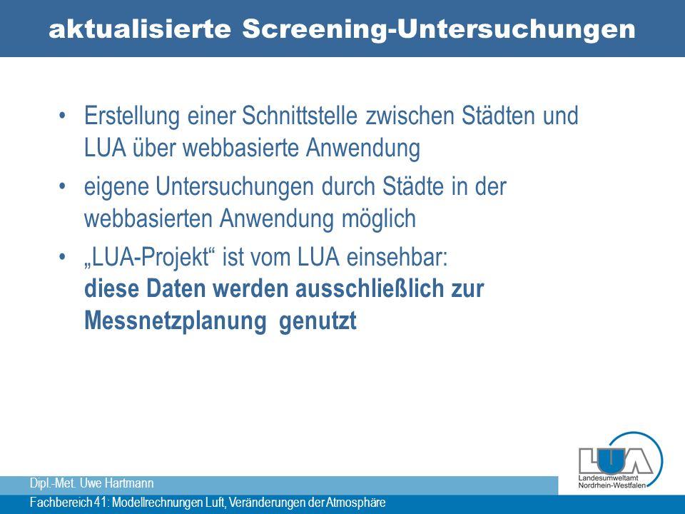 aktualisierte Screening-Untersuchungen