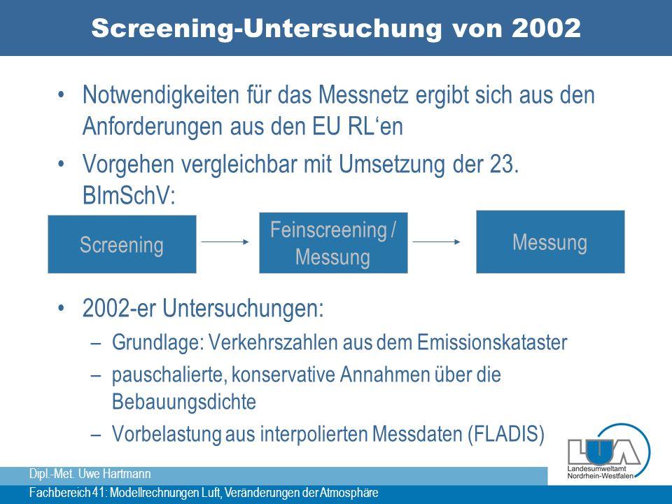 Screening-Untersuchung von 2002