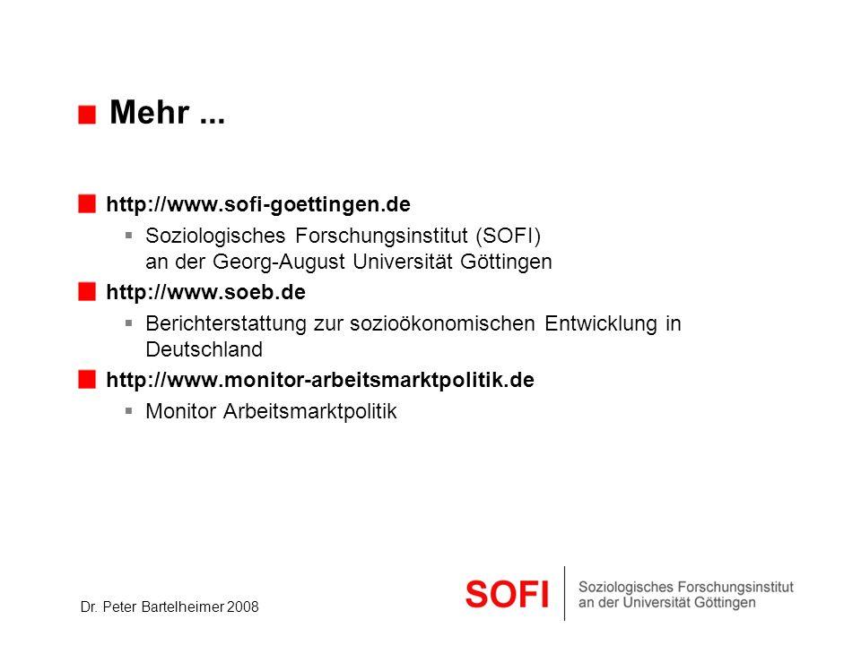 Mehr ... http://www.sofi-goettingen.de