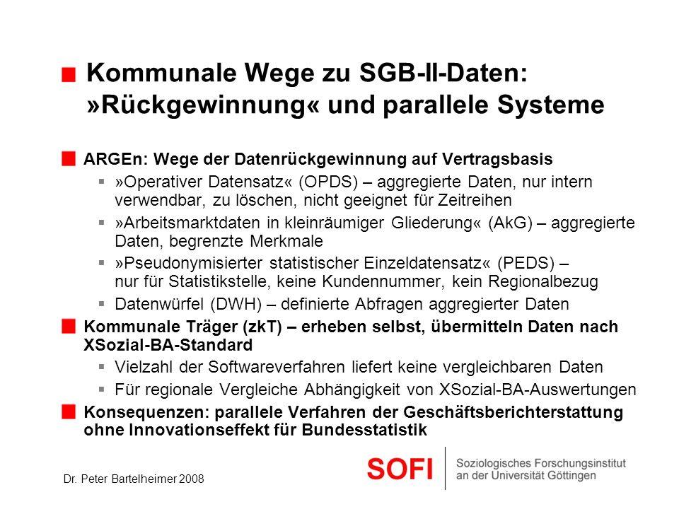 Kommunale Wege zu SGB-II-Daten: »Rückgewinnung« und parallele Systeme