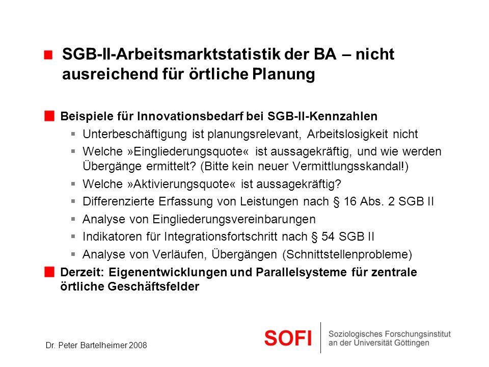 SGB-II-Arbeitsmarktstatistik der BA – nicht