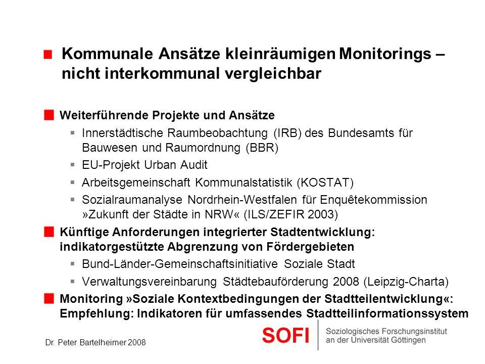 Kommunale Ansätze kleinräumigen Monitorings –