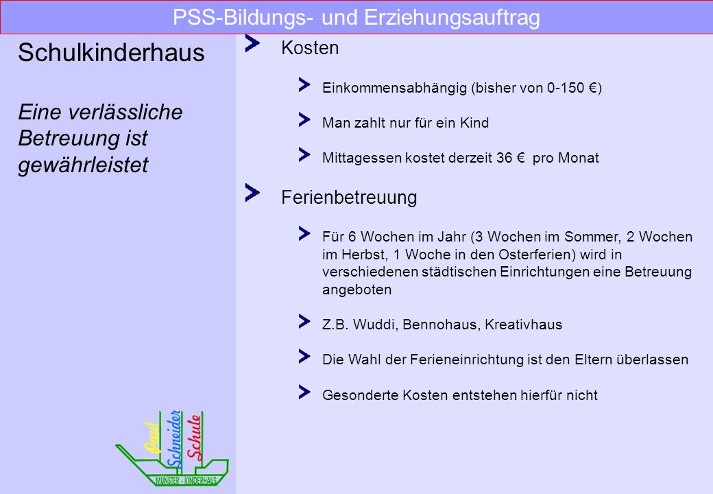 PSS-Bildungs- und Erziehungsauftrag
