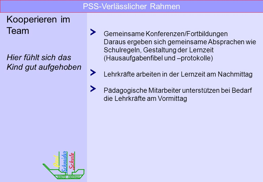 PSS-Verlässlicher Rahmen