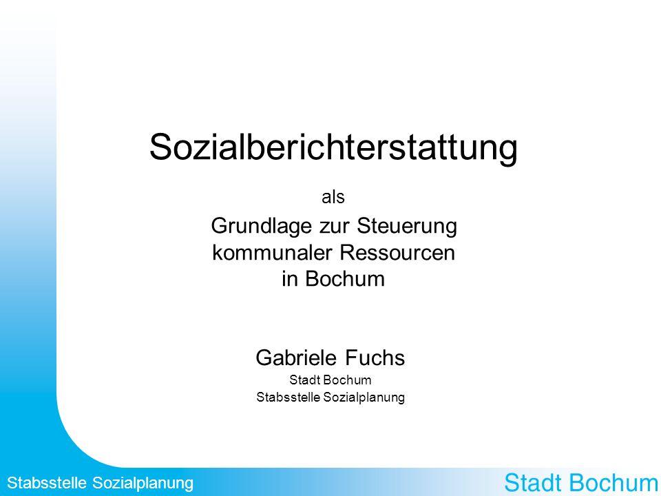 Gabriele Fuchs Stadt Bochum Stabsstelle Sozialplanung