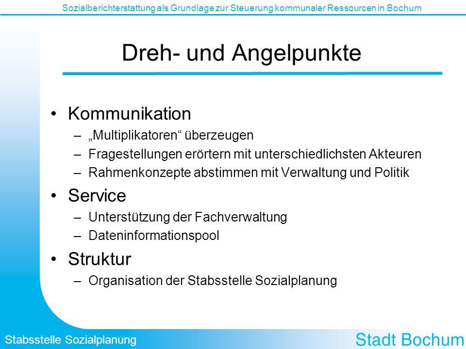 Dreh- und Angelpunkte Kommunikation Service Struktur