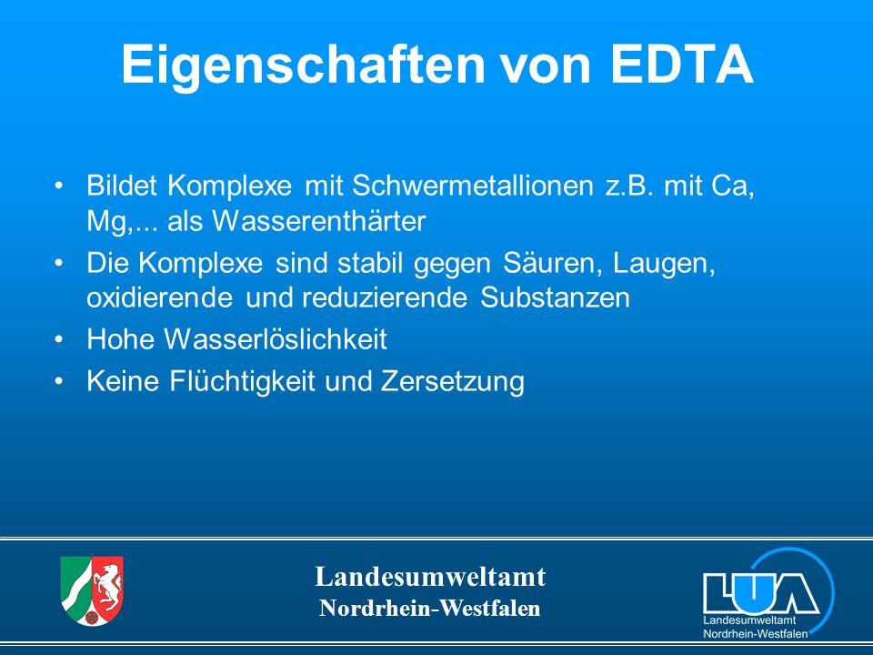 Eigenschaften von EDTA