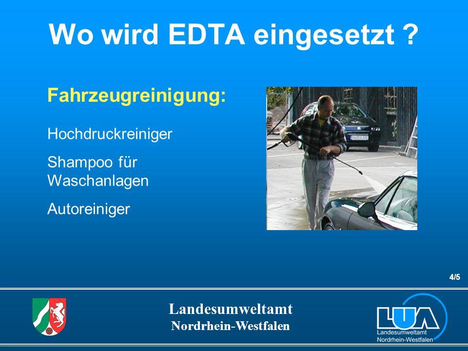 Wo wird EDTA eingesetzt