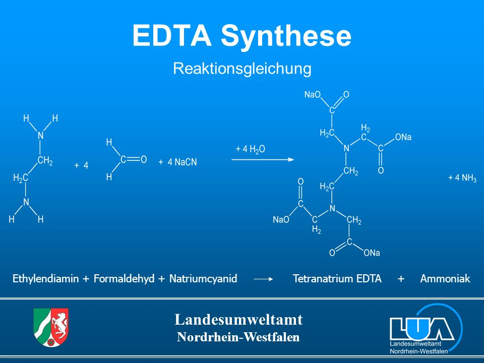 EDTA Synthese Reaktionsgleichung