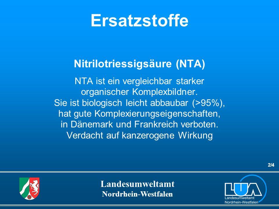Nitrilotriessigsäure (NTA)