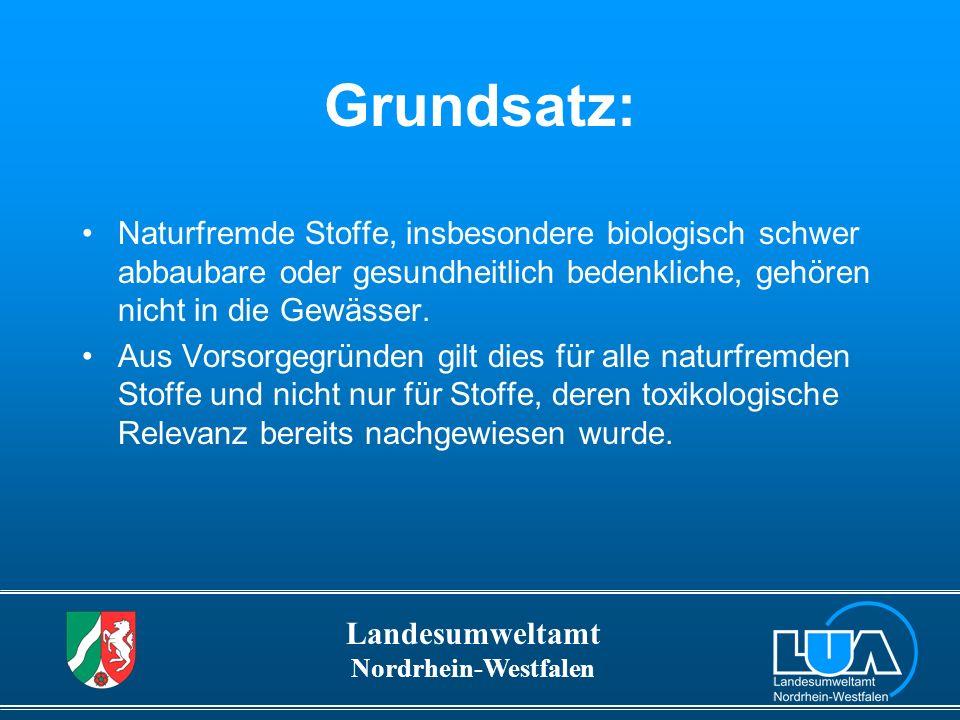 Grundsatz: Naturfremde Stoffe, insbesondere biologisch schwer abbaubare oder gesundheitlich bedenkliche, gehören nicht in die Gewässer.