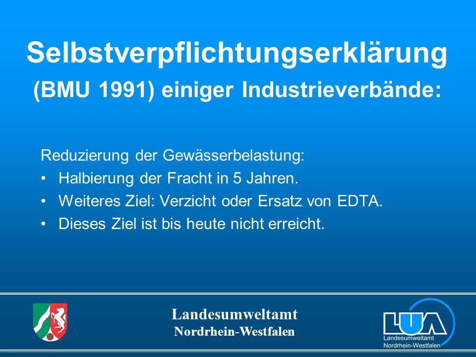 Selbstverpflichtungserklärung (BMU 1991) einiger Industrieverbände: