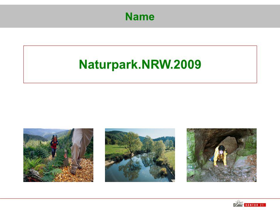 Name Naturpark.NRW.2009