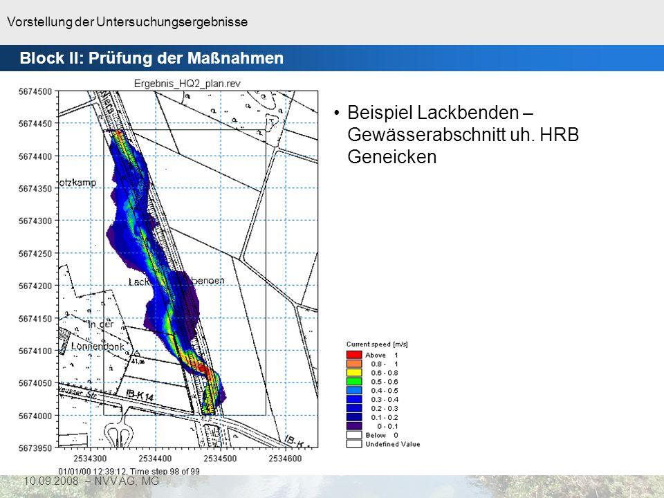 Beispiel Lackbenden – Gewässerabschnitt uh. HRB Geneicken