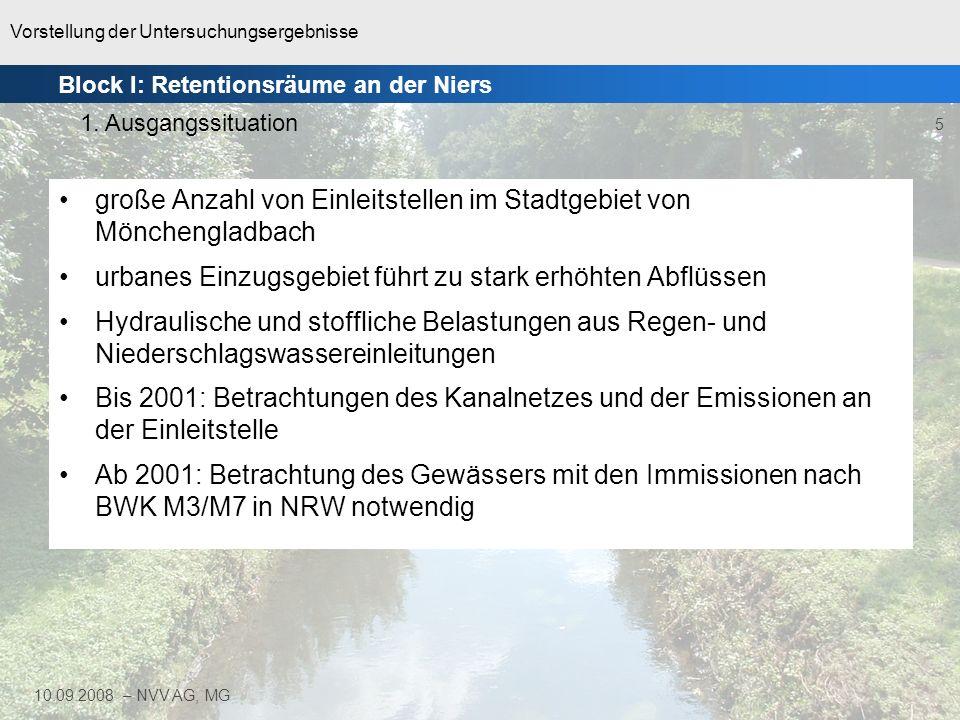 große Anzahl von Einleitstellen im Stadtgebiet von Mönchengladbach