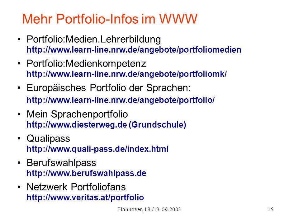 Mehr Portfolio-Infos im WWW