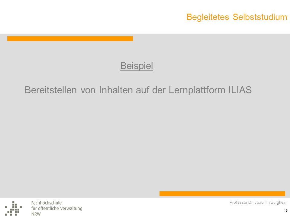 Bereitstellen von Inhalten auf der Lernplattform ILIAS